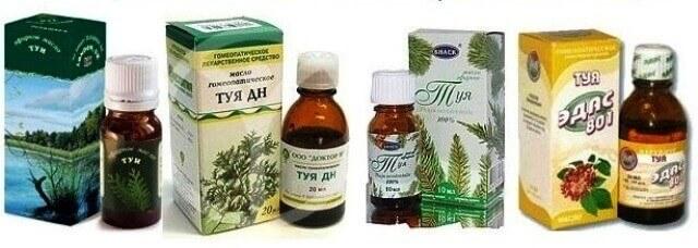 лечение аденоидов маслом туи